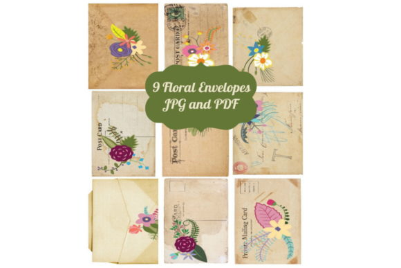 Download Free 9 Vintage Tags Ephemera Envelopes Graphic By Scrapbook Attic for Cricut Explore, Silhouette and other cutting machines.
