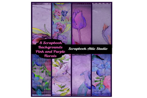 Download Free 4 Raspberry Floral Frames Files Graphic By Scrapbook Attic for Cricut Explore, Silhouette and other cutting machines.