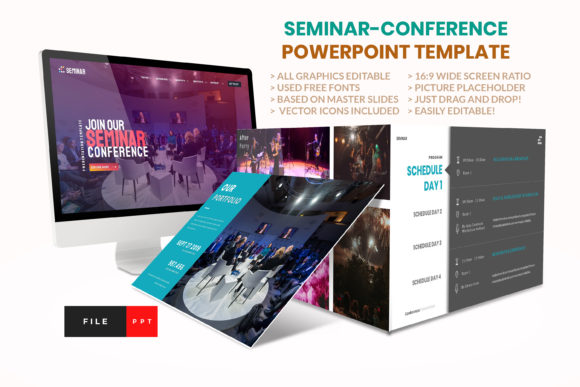 Seminar - Conference PowerPoint Template Graphic Presentation Templates By artstoreid