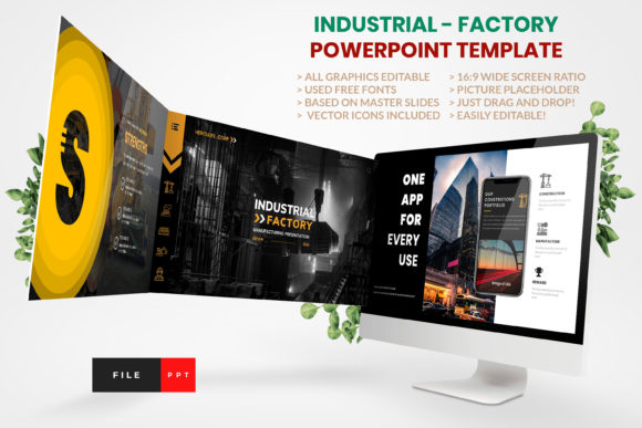 Industrial - Factory PowerPoint Template Graphic Presentation Templates By artstoreid