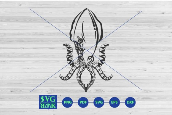 Download Free Squid Mandala Graphic By Svgbank Creative Fabrica for Cricut Explore, Silhouette and other cutting machines.