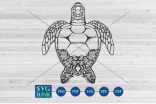 Download Free Turtle Mandala Graphic By Svgbank Creative Fabrica for Cricut Explore, Silhouette and other cutting machines.