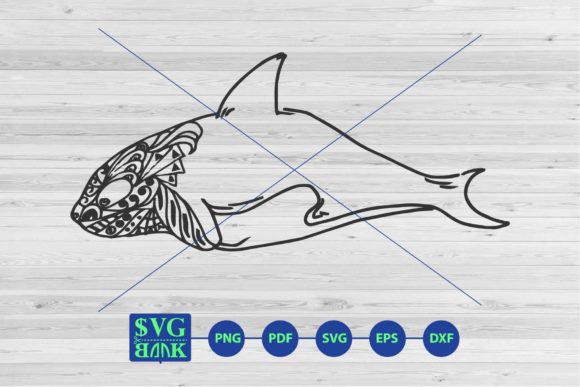 Print on Demand: Zentangle Dolphin Svg, Dolphin Mandala Graphic Crafts By svgBank