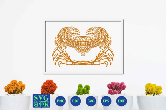 Download Free Zentangle Crab Mandala Crab Graphic By Svgbank Creative Fabrica for Cricut Explore, Silhouette and other cutting machines.