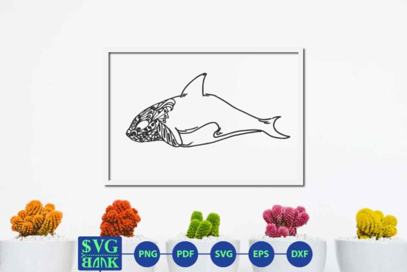 Download Free Zentangle Dolphin Dolphin Mandala Graphic By Svgbank Creative for Cricut Explore, Silhouette and other cutting machines.