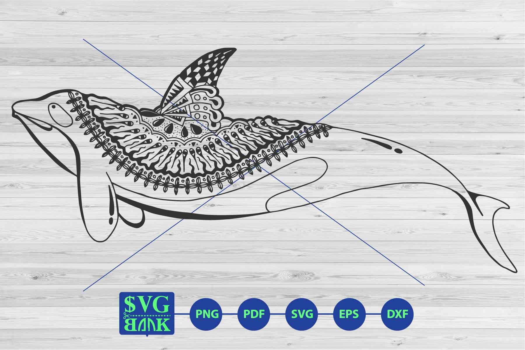Download Free Dolphin Mandala Graphic By Svgbank Creative Fabrica for Cricut Explore, Silhouette and other cutting machines.