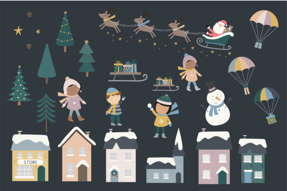 Print on Demand: Holiday Town Graphic Illustrations By poppymoondesign - Image 2