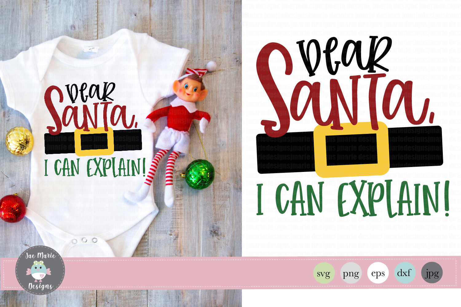 Download Free Dear Santa I Can Explain Graphic By Thejaemarie Creative Fabrica for Cricut Explore, Silhouette and other cutting machines.