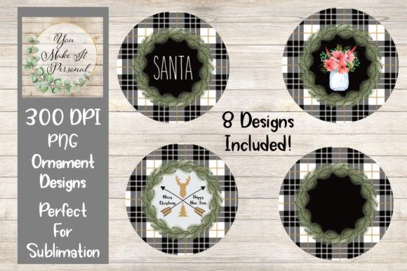 Print on Demand: Design Bundle for Christmas Ornaments Graphic Print Templates By You Make It Personal