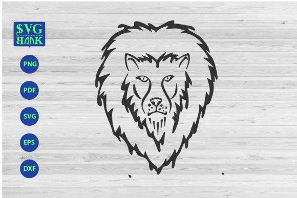 Download Free Lion S Head Graphic By Svgbank Creative Fabrica for Cricut Explore, Silhouette and other cutting machines.