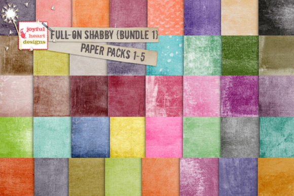 Full-on Shabby Bundle One Graphic Backgrounds By Joyful Heart Designs