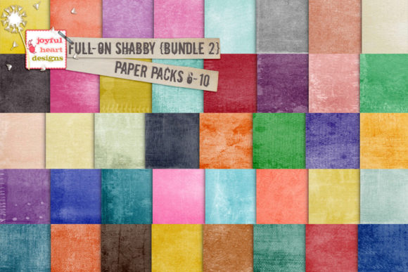 Full-on Shabby Bundle Two Graphic Backgrounds By Joyful Heart Designs