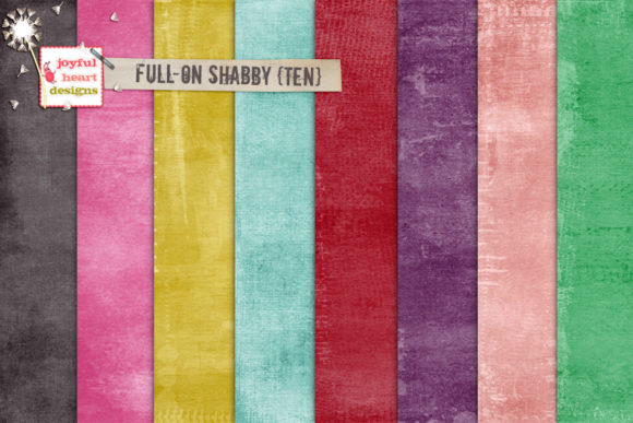 Full-on Shabby Bundle Two Graphic Backgrounds By Joyful Heart Designs - Image 6
