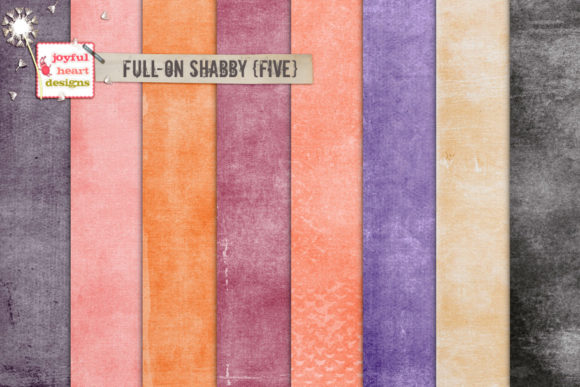Full-on Shabby Five Graphic Backgrounds By Joyful Heart Designs