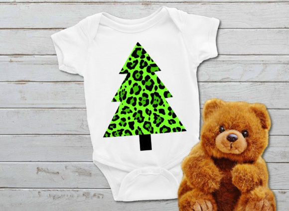 Download Free Leopard Print Christmas Tree Graphic By Printsofpop Creative for Cricut Explore, Silhouette and other cutting machines.