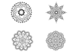 4 Mandalas Para Colorear Acmoladesign Graphic By Ana Carmen Modrego Lacal