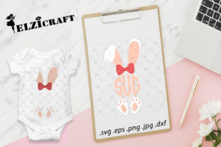 Girl Bunny Monogram, Bunny Ears, Easter Graphic Crafts By elzicraft