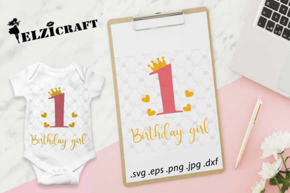 1st Birthday, First Birthday, Girl Graphic Crafts By elzicraft