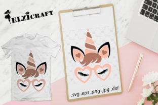 Download Free Valentine S Day Unicorn Unicorn Face Graphic By Elzicraft for Cricut Explore, Silhouette and other cutting machines.