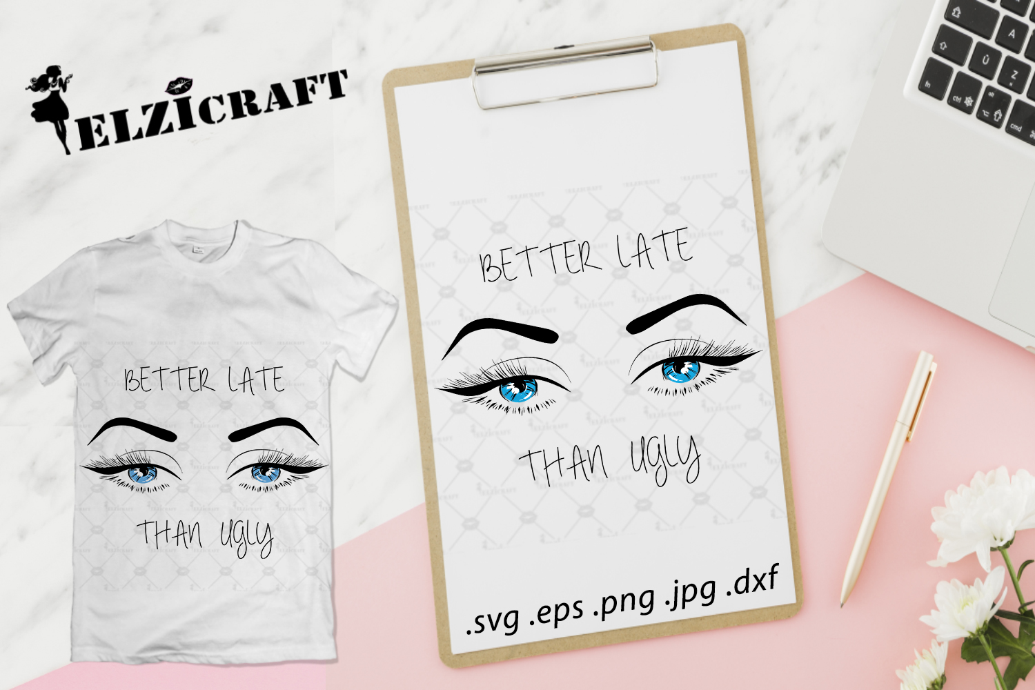 Better Late Than Ugly Makeup Eyelashes Graphic By Elzicraft