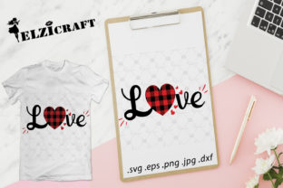 Download Free Love Buffalo Plaid Valentine S Day Graphic By Elzicraft for Cricut Explore, Silhouette and other cutting machines.