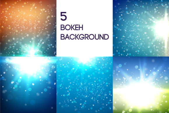 5 Bokeh Background Graphic Backgrounds By Manuchi