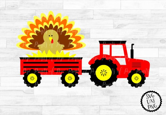 Download Free Tractor With Turkey Graphic By Printsofpop Creative Fabrica for Cricut Explore, Silhouette and other cutting machines.