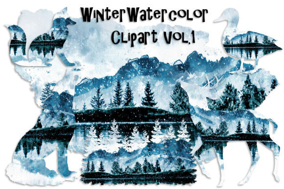 Print on Demand: Winter Watercolor Clipart Vol. 1 Graphic Illustrations By Tamara Widitz - Image 1