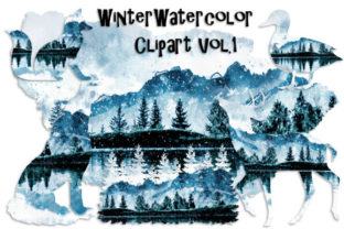 Winter Watercolor Clipart Vol. 1 Gráfico Por Tamara Widitz