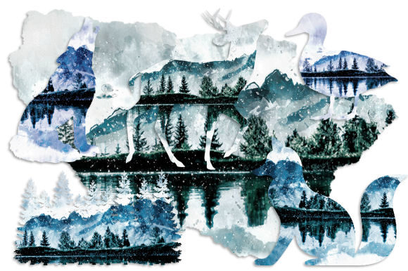 Print on Demand: Winter Watercolor Clipart Vol. 1 Graphic Illustrations By Tamara Widitz - Image 2