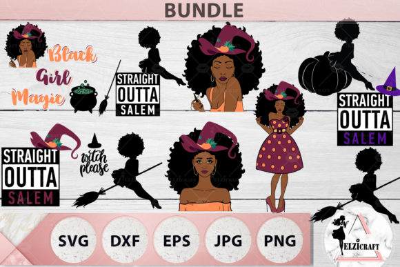 Download Free Afro Halloween Bundle Svg Cut Files Graphic By Elzicraft for Cricut Explore, Silhouette and other cutting machines.
