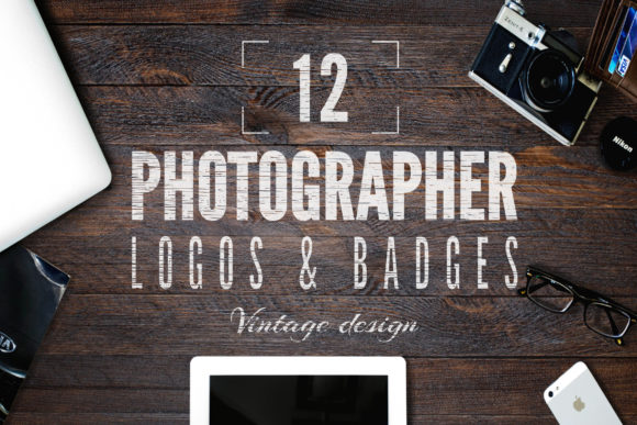 Vintage Photography Badges Graphic Logos By JeksonGraphics
