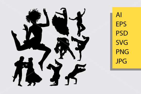 Beautiful Dance Silhouette Graphic Illustrations By Cove703