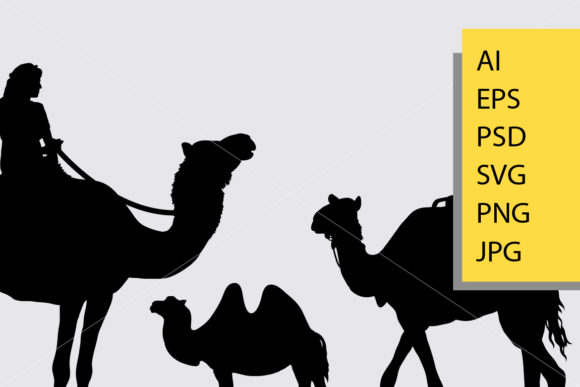 Camel Animal Silhouette Graphic Illustrations By Cove703 - Image 2