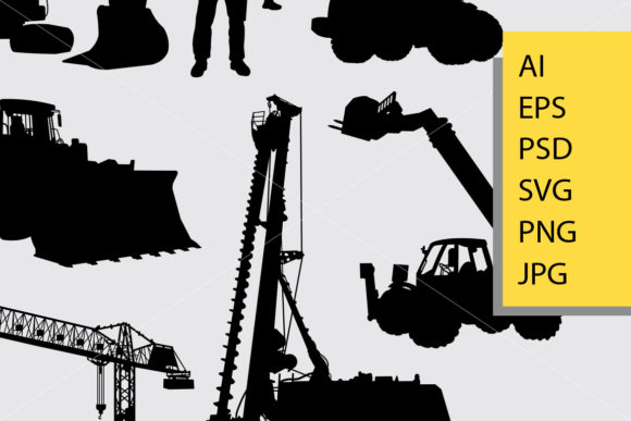 Construction Silhouette Graphic Illustrations By Cove703 - Image 2