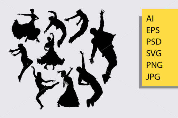 Cool Dancing Silhouette Graphic Illustrations By Cove703