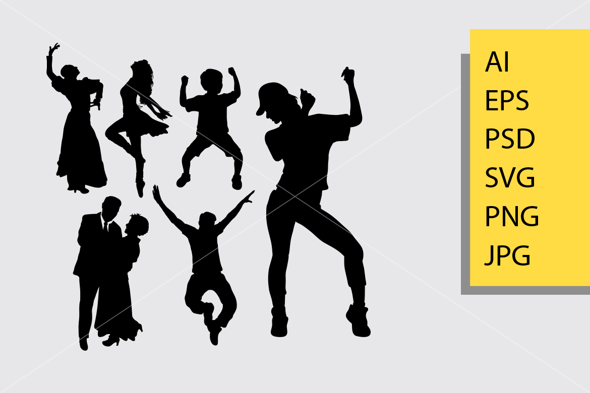 Download Free Dancer Pose Silhouette Graphic By Cove703 Creative Fabrica for Cricut Explore, Silhouette and other cutting machines.