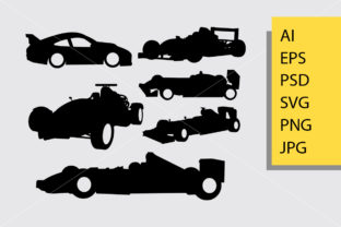 Formula One Car Race Silhouette Graphic Illustrations By Cove703 1