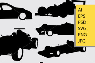 Formula One Car Race Silhouette Graphic Illustrations By Cove703 2