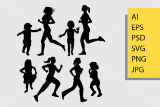 Girl Running Silhouette. Graphic By Cove703