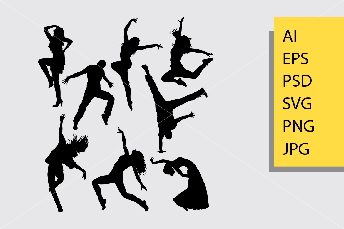 Download Free Modern Dance Silhouette Graphic By Cove703 Creative Fabrica for Cricut Explore, Silhouette and other cutting machines.