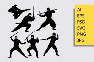 Ninja Silhouette Graphic Illustrations By Cove703