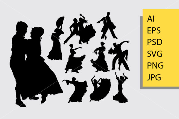 Traditional Dance Silhouette Graphic Illustrations By Cove703