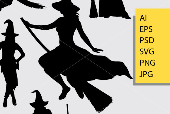 Witch Silhouette Graphic Illustrations By Cove703 - Image 2
