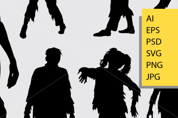 Zombie Silhouette Graphic Illustrations By Cove703 - Image 2