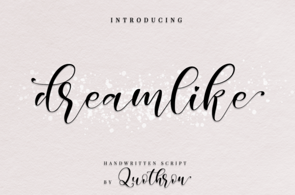 Print on Demand: Dreamlike Script Script & Handwritten Font By it_was_a_good_day - Image 1