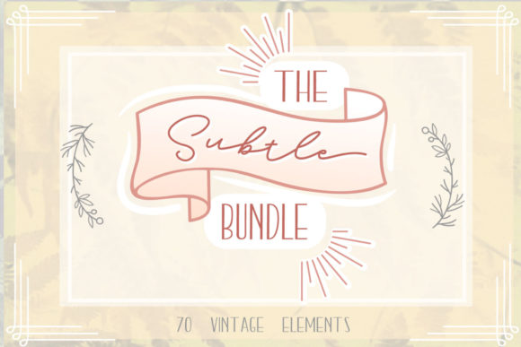 Print on Demand: The Subtle Bundle 70 Vintage Graphic Crafts By tatiana.cociorva
