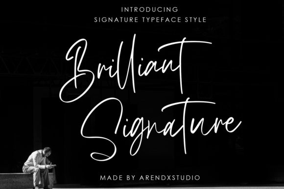 Brilliant Script & Handwritten Font By Arendxstudio