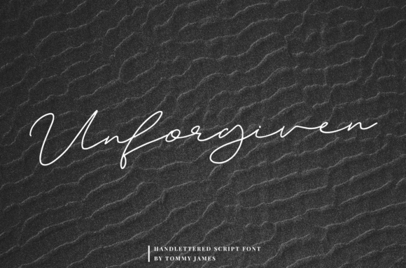 Print on Demand: Unforgiven Script & Handwritten Font By it_was_a_good_day