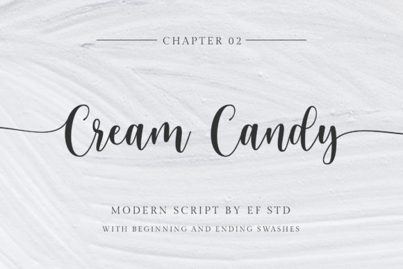 Cream Candy Script & Handwritten Font By Ef Studio